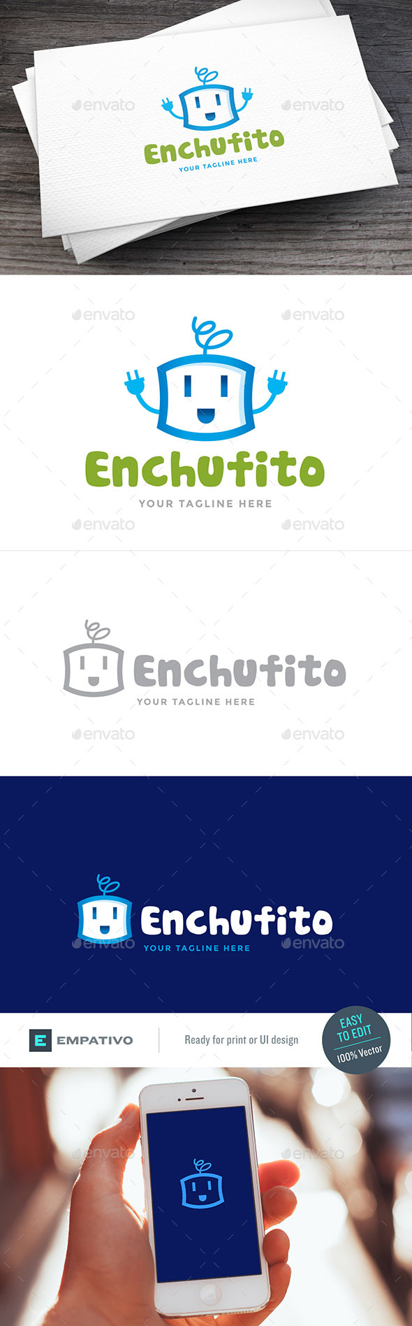 Enchufito Logo Template - Objects Logo Templates