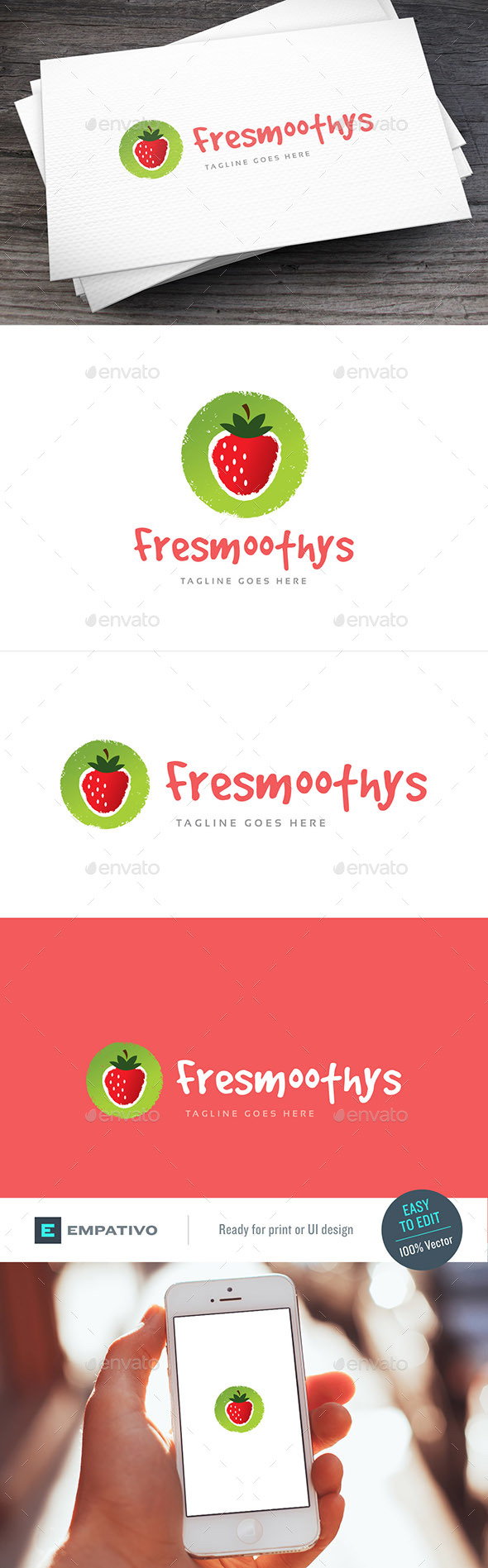 Smoothies Logo Template - Food Logo Templates