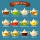 Types of Tea. Set of Glass Kettles with Different - GraphicRiver Item for Sale