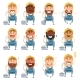 Set of Electrician Flat Cions - GraphicRiver Item for Sale