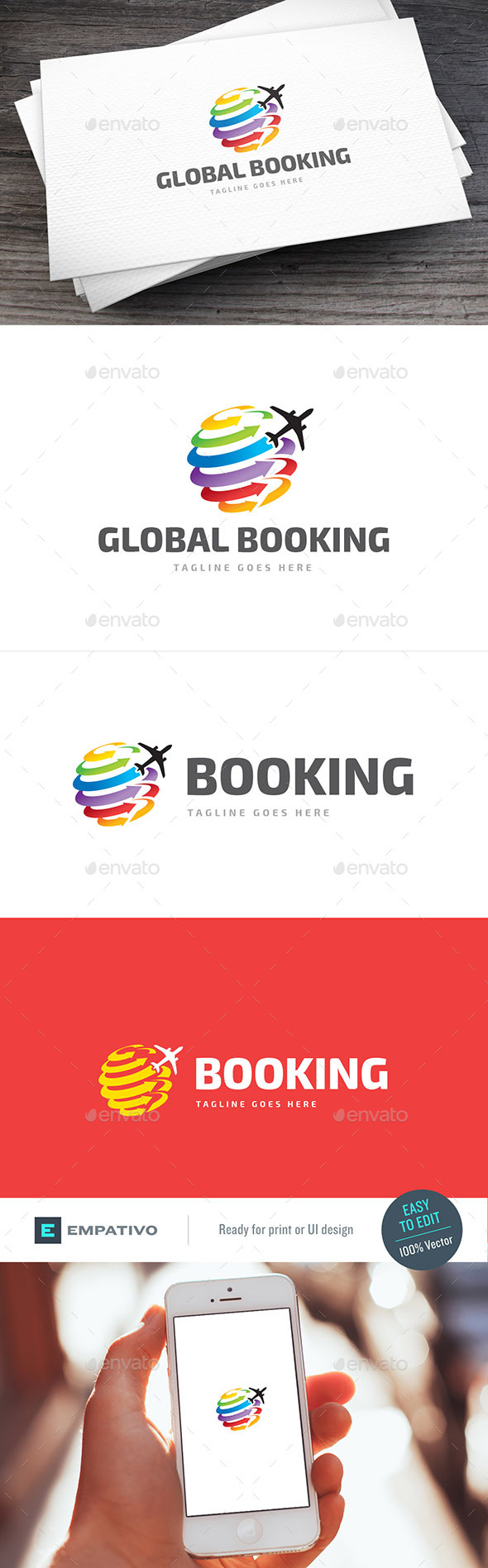 Global Booking Logo Template