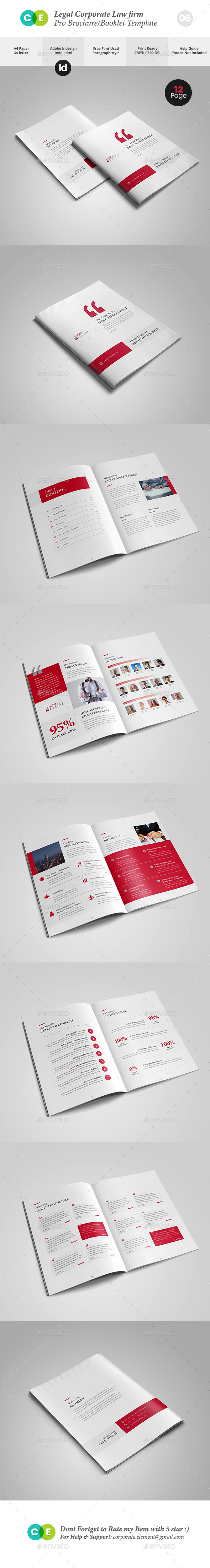 Legal Corporate Law Firm Business Brochure V06 - Brochures Print Templates