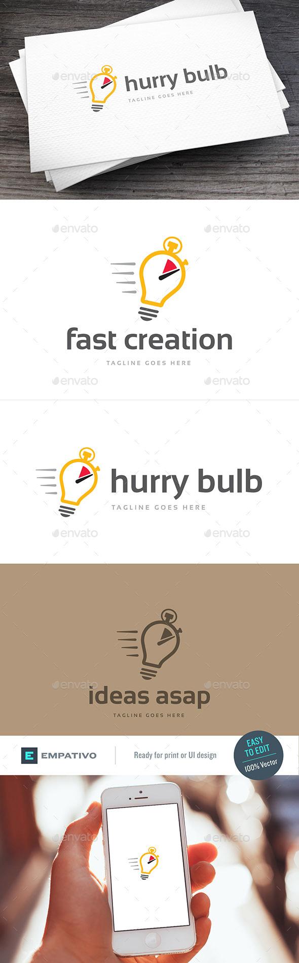 Hurry Bulb Logo Template - Symbols Logo Templates
