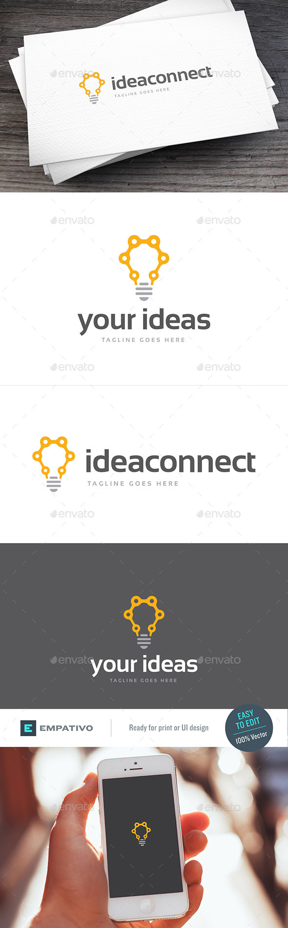 Connected Idea Logo Template
