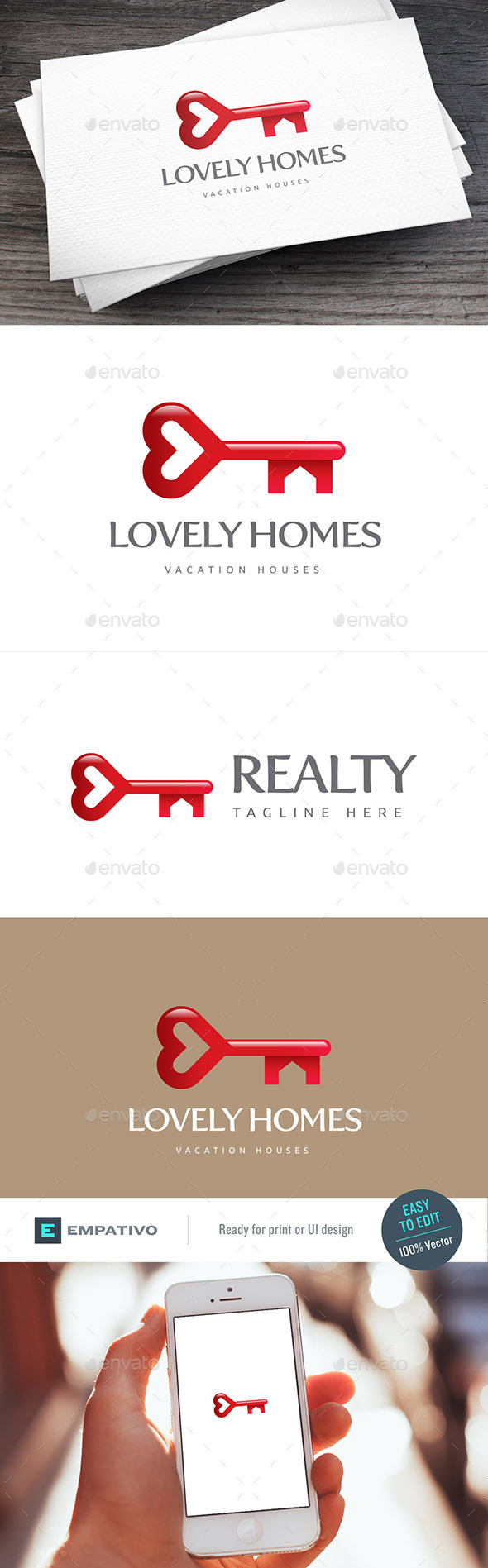 Lovely Homes Logo Template - Buildings Logo Templates