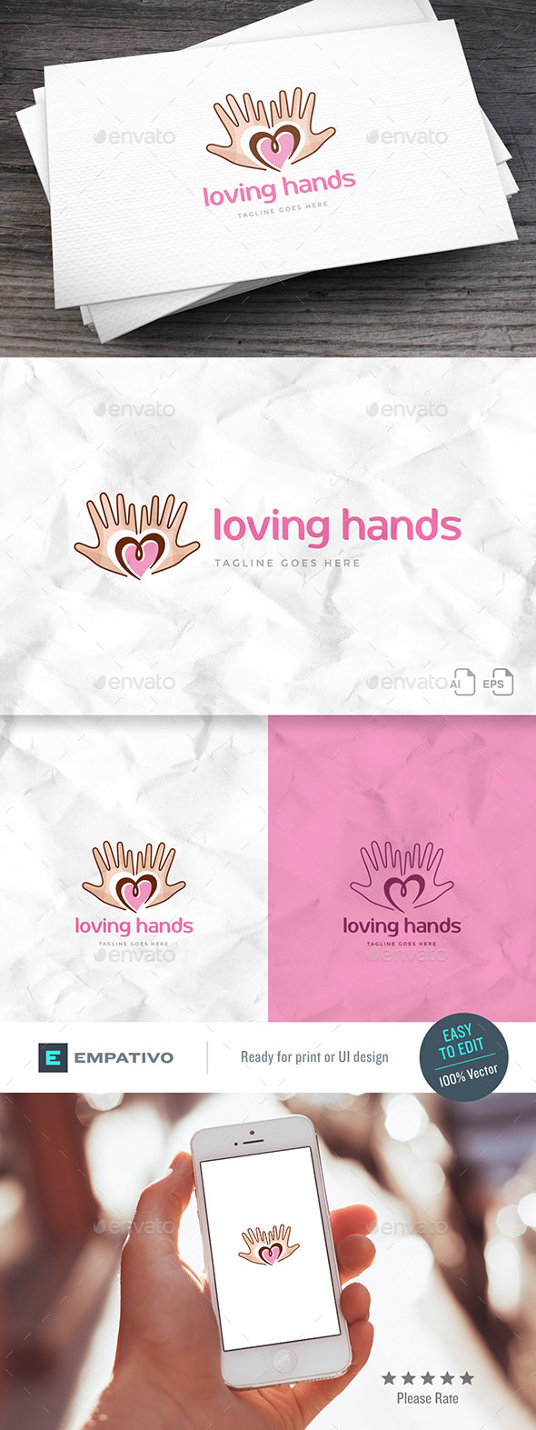 Loving Hands Logo Template - Symbols Logo Templates