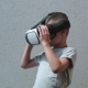 Child with VR Headset Watching - VideoHive Item for Sale