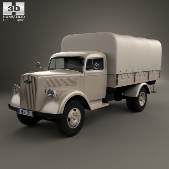 Opel Blitz Flatbed Truck 1940