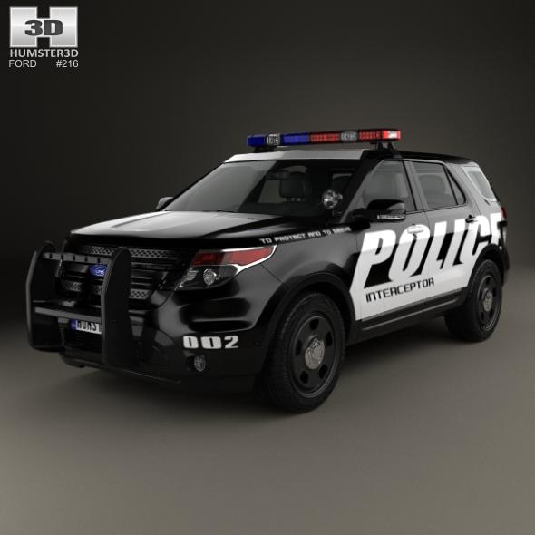 3DOcean Ford Explorer Police Interceptor Utility 2010 20458715