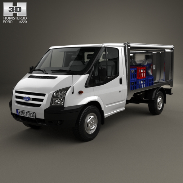 Ford Transit Milk Float Truck 2012 - 3DOcean Item for Sale