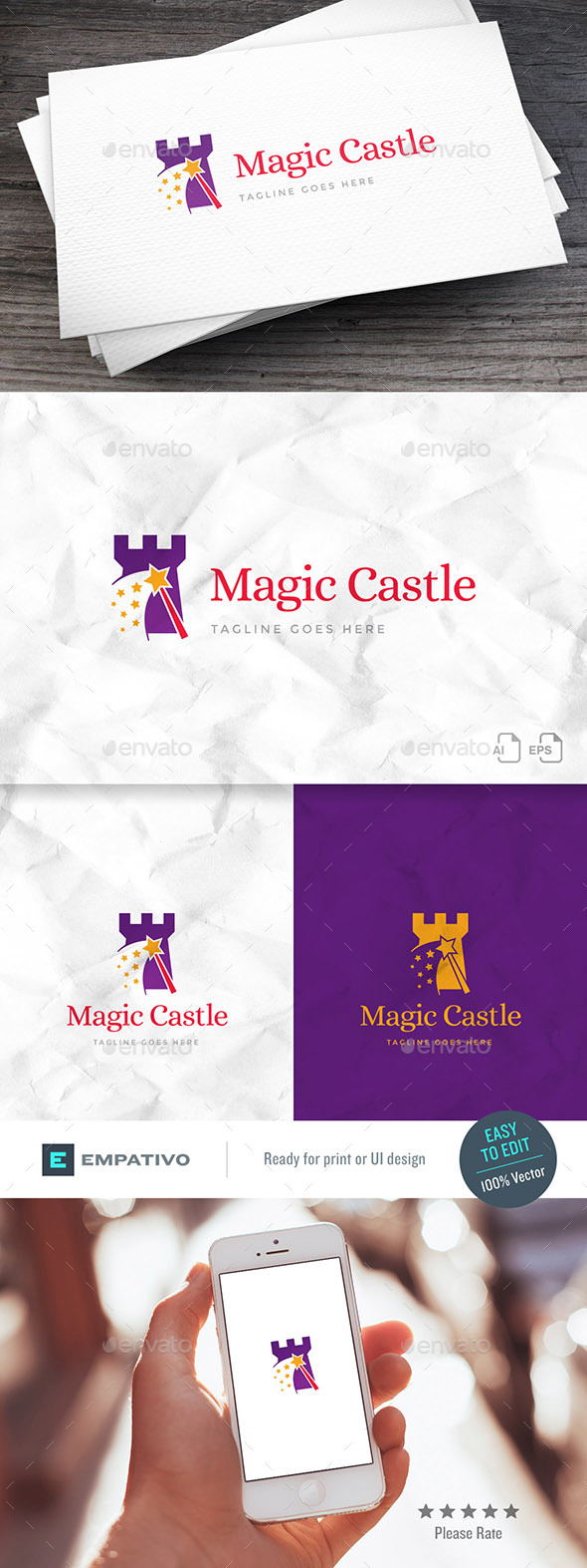 Magic Castle Logo Template - Buildings Logo Templates