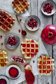 Waffle With Pomegranate Jam - PhotoDune Item for Sale