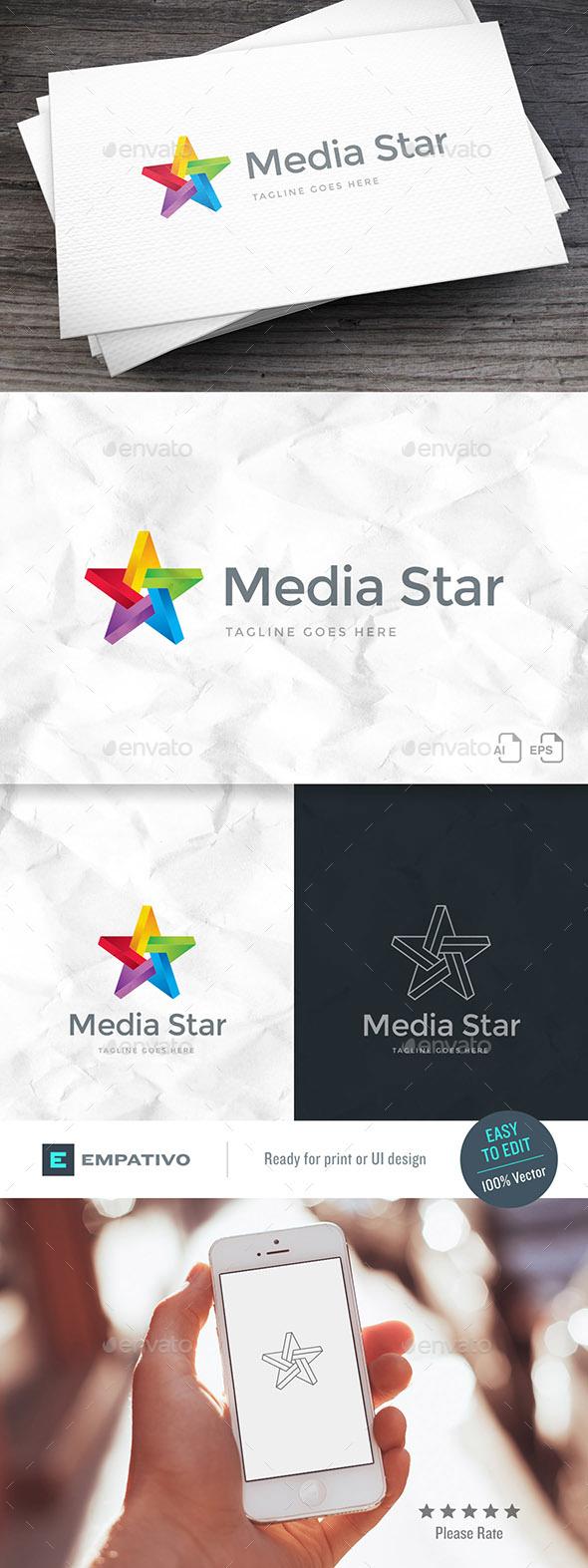 Media Star Logo Template - Symbols Logo Templates