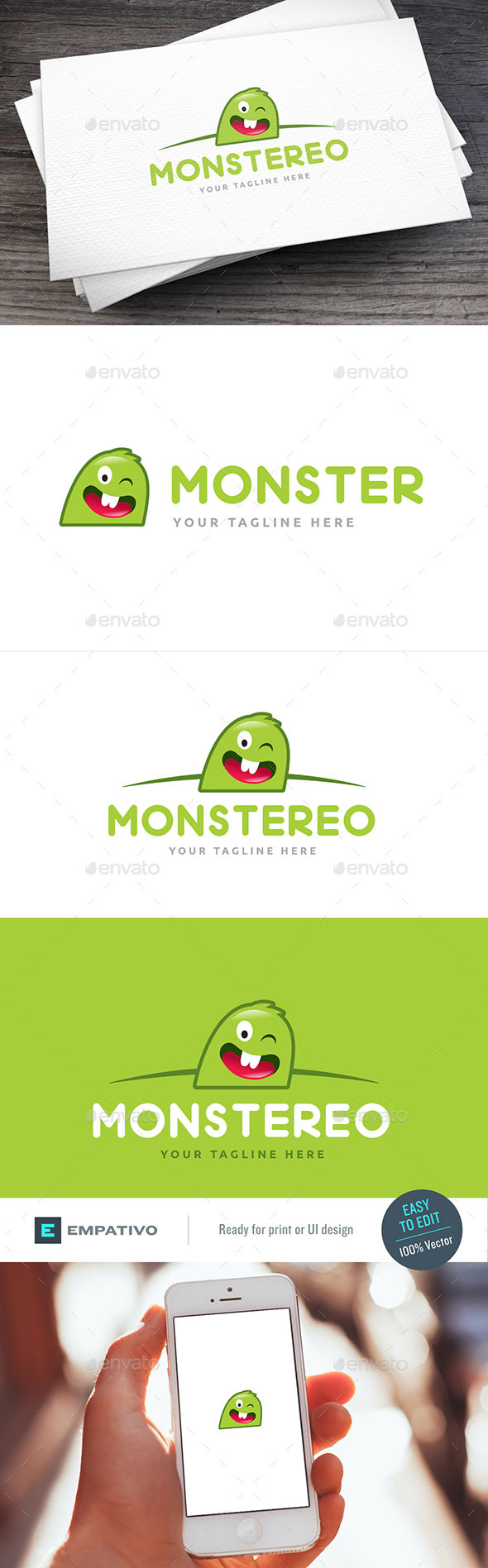 Monster Logo Template - Symbols Logo Templates