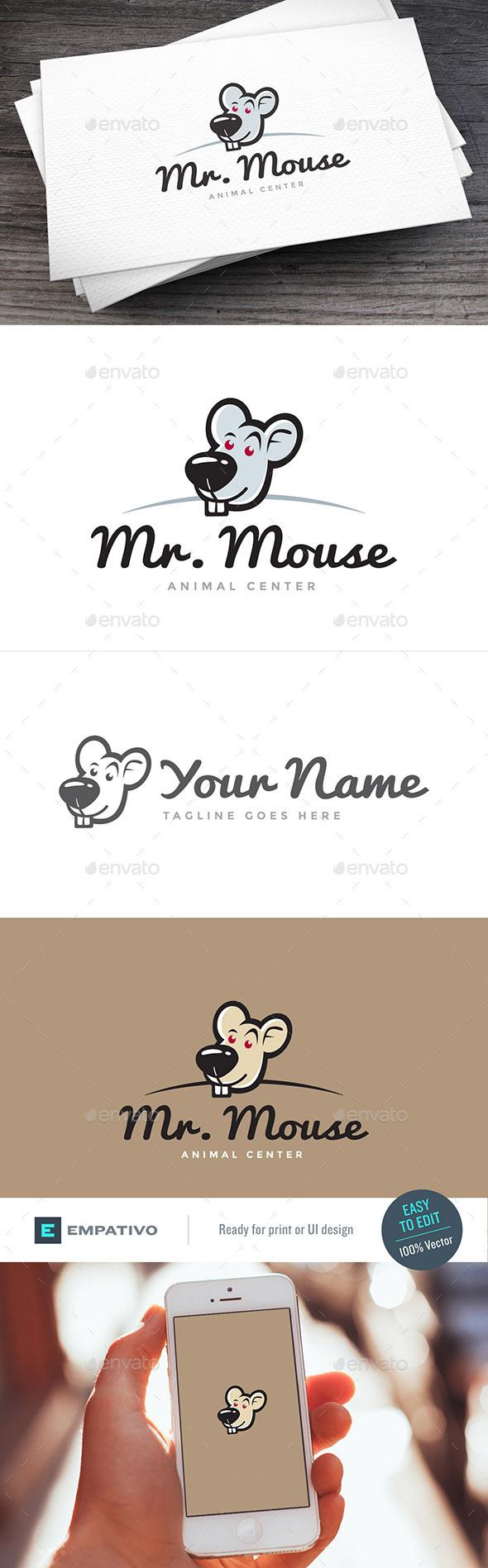 Mouse Logo Template - Animals Logo Templates