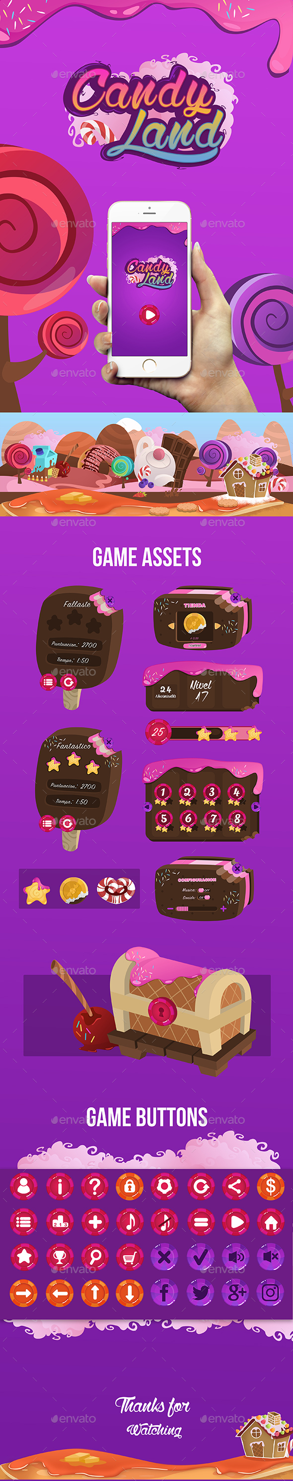GraphicRiver Candy Land Game Interface 20458836
