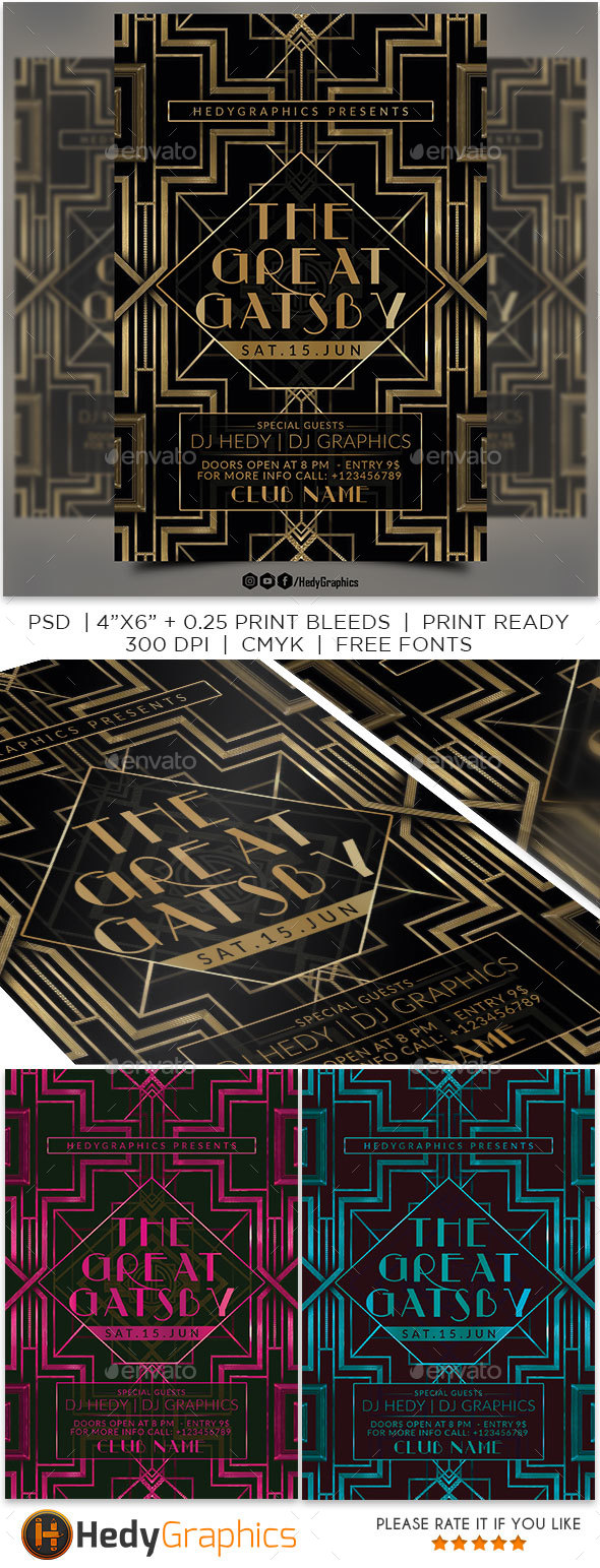 GraphicRiver The Great Gatsby 20458877