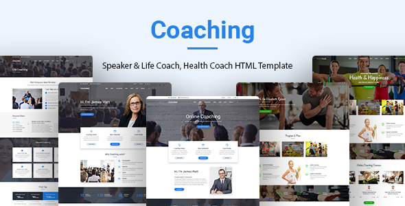 Coaching | Speaker & Life Coach, Health Coach HTML Templates