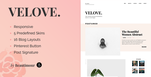 Velove - A Fresh WordPress Blog Theme