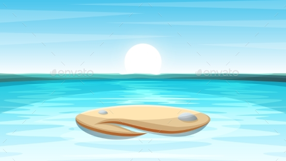 GraphicRiver Cartoon Island Landscape Illustration 20458971