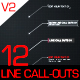 12 Line Call-Outs Pack - VideoHive Item for Sale