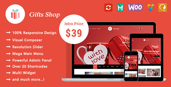 Gifts Shop - Responsive WooCommerce WordPress Theme