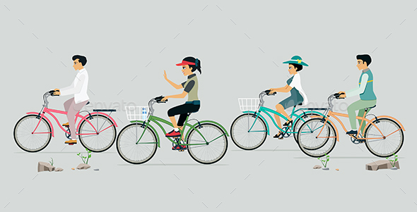 GraphicRiver People Love Cycling 20459334