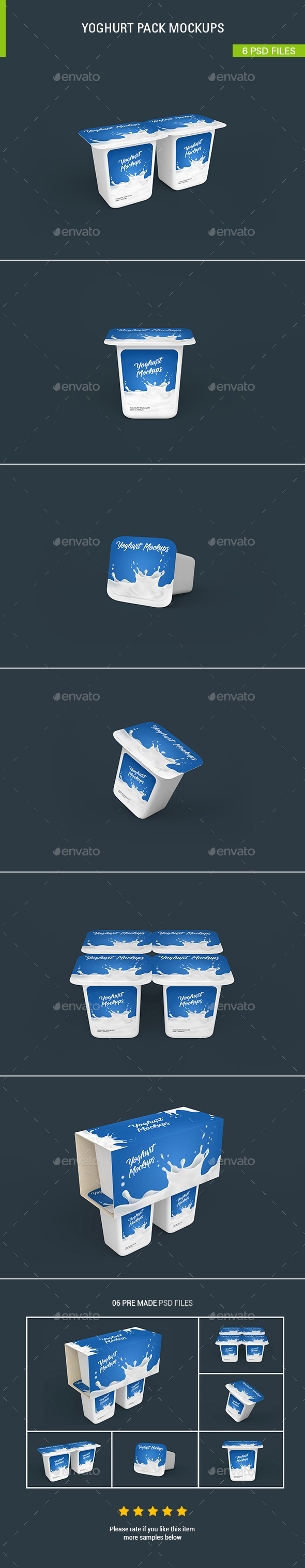 Yoghurt Mockups - Food and Drink Packaging