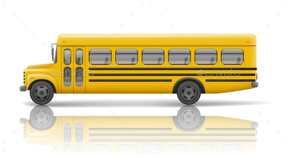 Yellow School Bus. Transportation and Vehicle