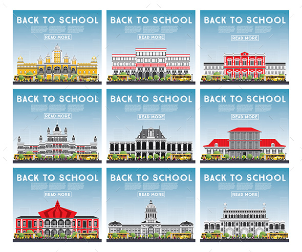 GraphicRiver Set of University High School and College Study Banners 20459613