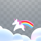 Unicorn, Rainbow and Clouds Overlay