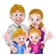 Cartoon Parents and Kids - GraphicRiver Item for Sale