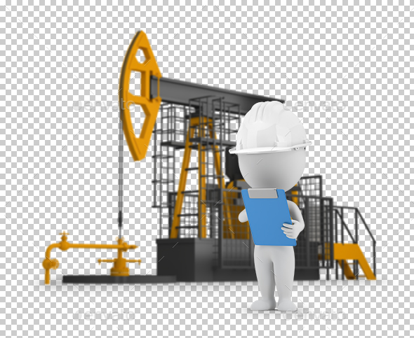 3D Small People - Engineer Petroleum - Characters 3D Renders