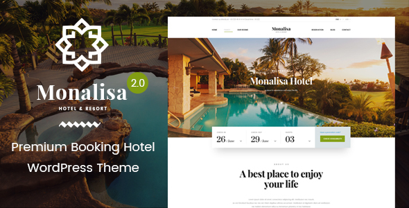 Hotel WordPress Theme | Monalisa Hotel