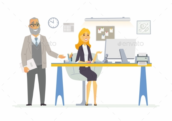 Office Life - Modern Vector Cartoon Business - Concepts Business