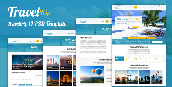 Travel Trip – Tour Package Booking PSD Template - Travel Retail