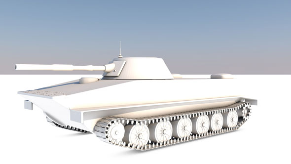 Tank-PT-76 - 3DOcean Item for Sale