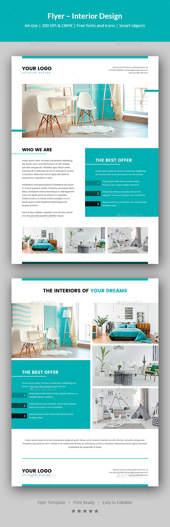 Flyer – Interior Design - Corporate Flyers