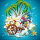 Summer Holiday Flyer Design with Palm Trees - GraphicRiver Item for Sale