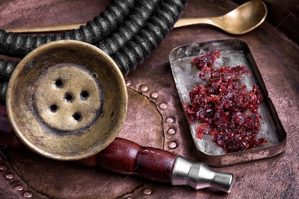 exotic shisha hookah - Stock Photo - Images