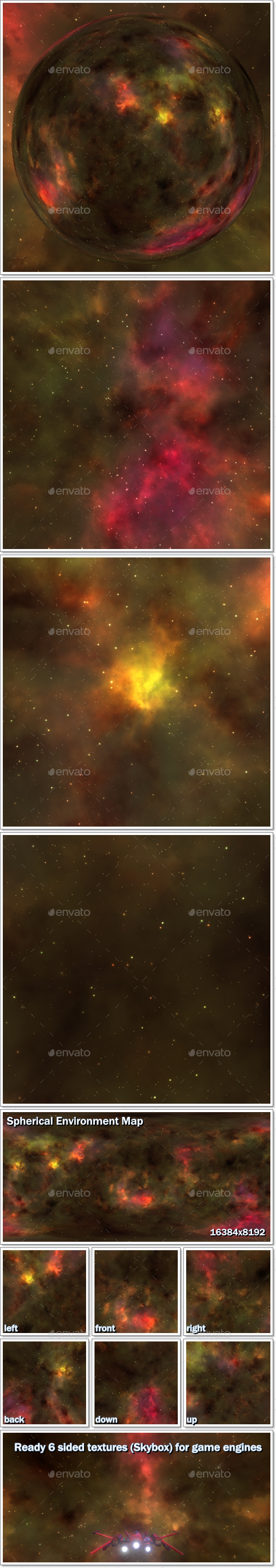 3DOcean Nebula Space Environment HDRI Map 003 20460460