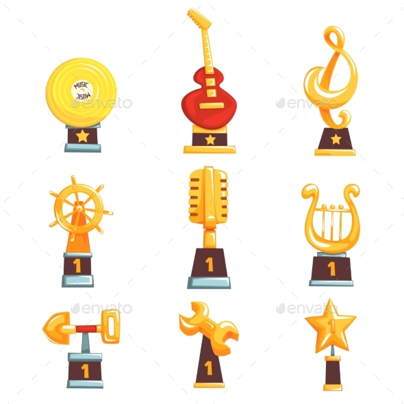 GraphicRiver Golden Trophy Cups Awards and Achievements 20460559