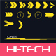Hi-tech Lines and Arrows Set - GraphicRiver Item for Sale