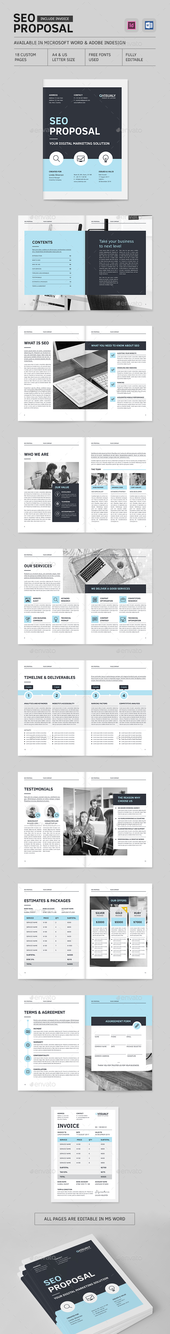 SEO Proposal - Proposals & Invoices Stationery