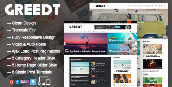 Greedt - WordPress Blog Magazine Theme