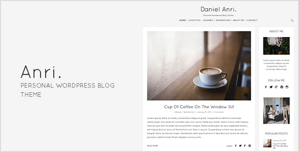Anri - Personal WordPress Blog Theme