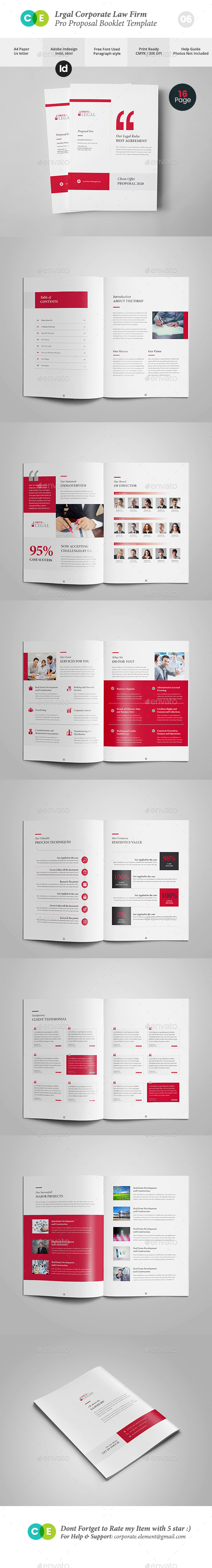 Legal Corporate Law Firm Business Proposal V06 - Proposals & Invoices Stationery