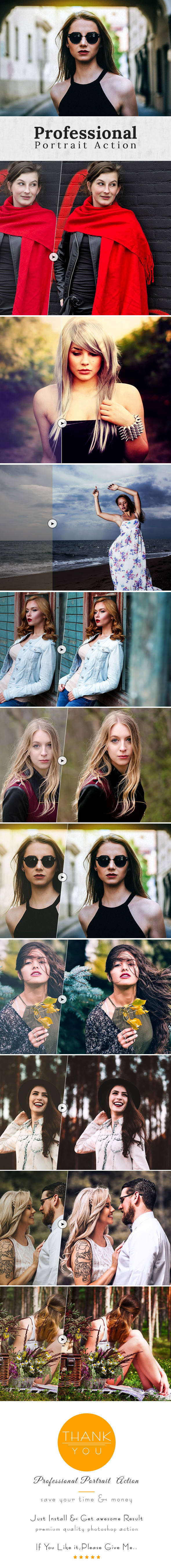 Professional Portrait Action - Photo Effects Actions