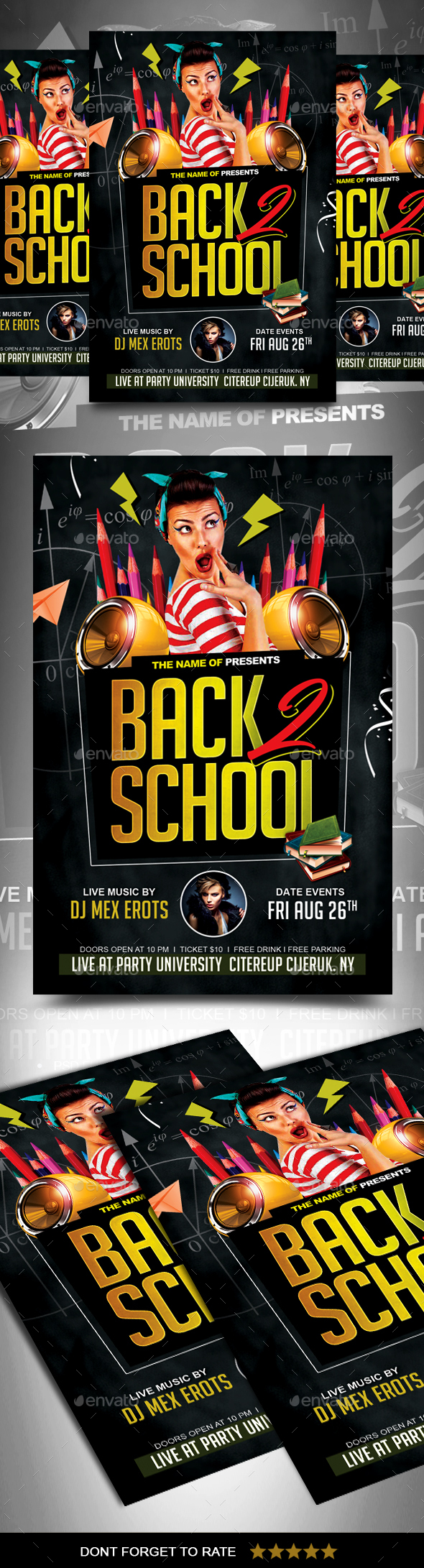 GraphicRiver Back to School Party Flyer 20460791