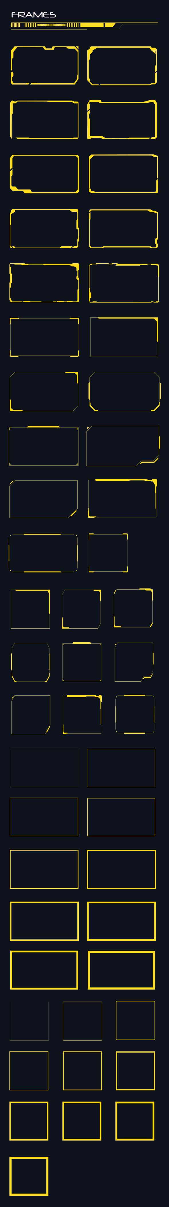 GraphicRiver 50 Hi-tech Frames Custom Shapes 20461030
